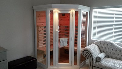 Porta Spa - 3 Seater FAR Corner Glass Sauna