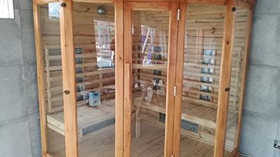 Porta Spa - Corner Glass Sauna